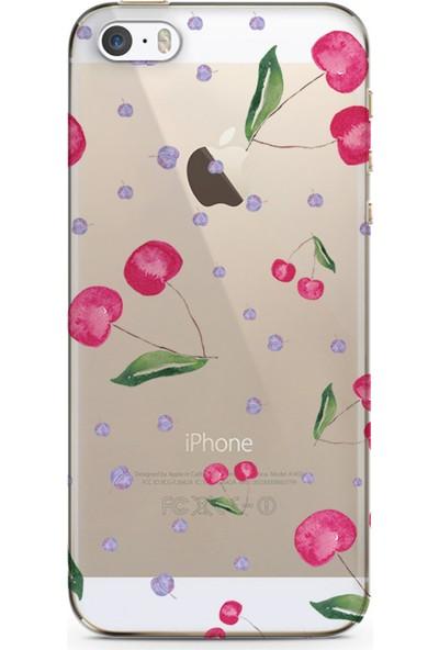 Kılıfland Apple iPhone 5s Kılıf Silikon Resimli Kapak Summer Cherry Stok 198