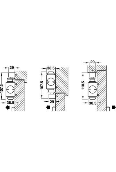 Hafele Dcl 61 Kapı Kapatıcı Kapı Hidroliği Krom Mat