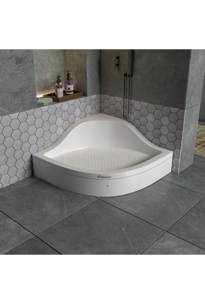 Dbbanyo Oturmalı Duş Teknesi Panelli 90*90*20 cm