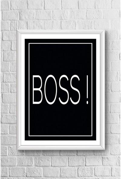 Lyn Home Boss Çerçeveli Poster Tablo 23,5 x 33,5 cm