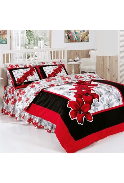 Belenay Çift Kişilik Uyku Seti Lilyum Kırmızı