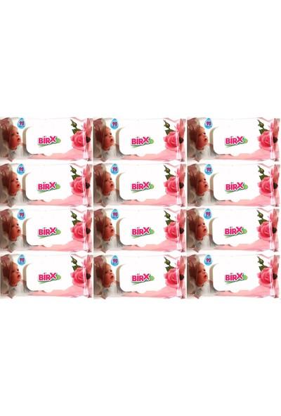 Birx Islak Havlu Mendil Klasik 90 Yaprak 12'li Set Plastik Kapaklı 12 x 90 1080 Yaprak