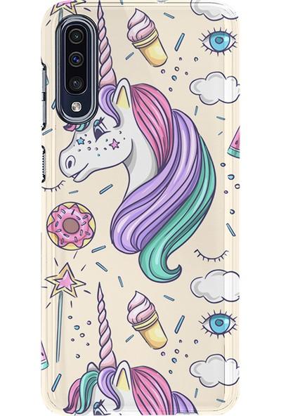 Kılıfland Samsung Galaxy A70 Kılıf A705F Silikon Resimli Kapak Unicorn Ice Cream -Stok 1190
