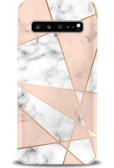 Kılıfland Samsung Galaxy S10 Plus Kılıf G975F Silikon Resimli Kapak Mixed Marble Mermer -Stok 1034