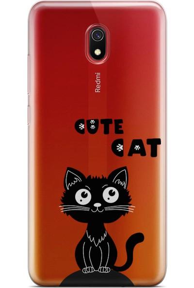 Kılıfland Xiaomi Redmi 8A Kılıf Silikon Resimli Kapak Cute Cat -Stok 499