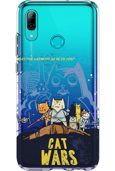 Kılıfland Huawei P Smart 2019 Kılıf Silikon Desenli Resimli Lüx Kapak Cat Wars -Stok 869