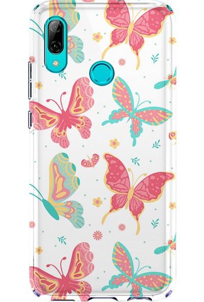 Kılıfland Huawei P20 Lite Kılıf Silikon Desenli Resimli Lüx Kapak Some Butterflys -Stok 885