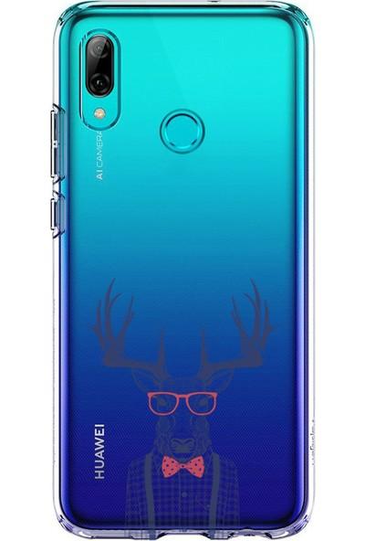 Kılıfland Huawei P20 Lite Kılıf Silikon Desenli Resimli Lüx Kapak Elegant Deer -Stok 1134