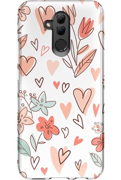 Kılıfland Huawei Mate 20 Lite Kılıf Silikon Desenli Resimli Lüx Kapak Paint Flowers -Stok 717