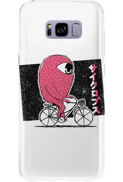 Kılıfland Samsung Galaxy S8 Kılıf Silikon Desenli Resimli Lüx Kapak Monster Bicycle -Stok 374