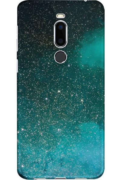 Kılıfland Meizu X8 Kılıf Silikon Desenli Resimli Lüx Kapak Green Sky -Stok 1080