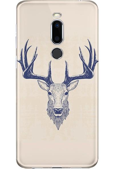 Kılıfland Meizu X8 Kılıf Silikon Desenli Resimli Lüx Kapak Old Deer -Stok 1107
