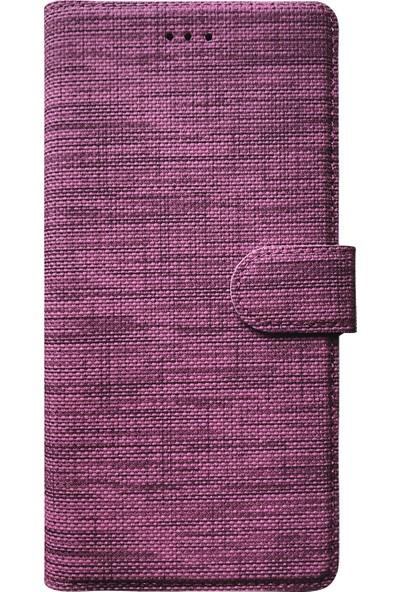 Microsonic Samsung Galaxy M10s Kılıf Fabric Book Wallet Mor