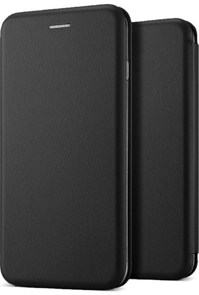 Microsonic Samsung Galaxy A71 Kılıf Ultra Slim Leather Design Flip Cover Siyah