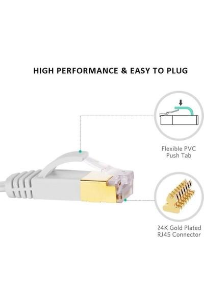 Alfais Cat7 Ethernet RJ45 600MHz 10GBPS Modem İnternet Kablosu 20 m