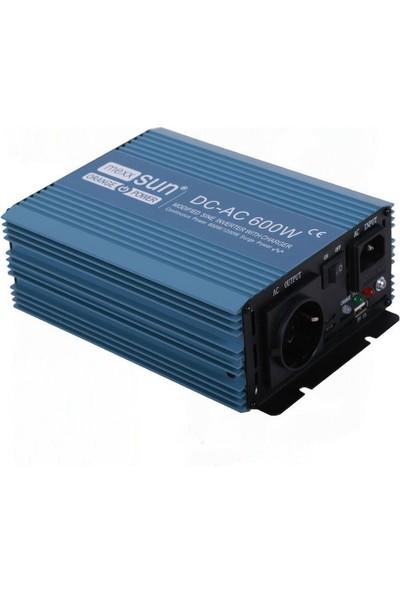 İsos Modifiye Sinüs Ups Şarjlı Inverter 12 V 600 W