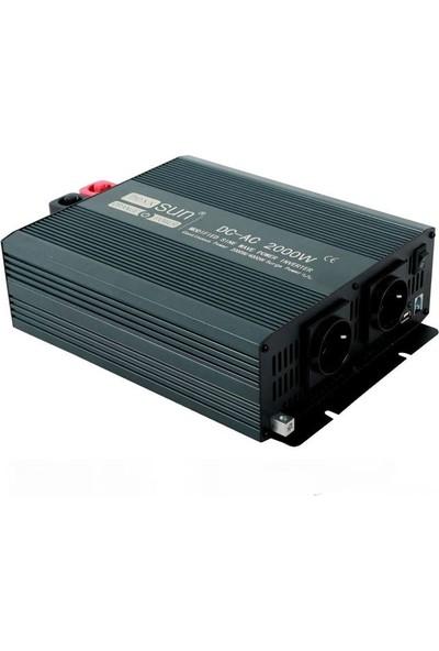 İsos Modifiye Sinüs Inverter 12 V 2000 W