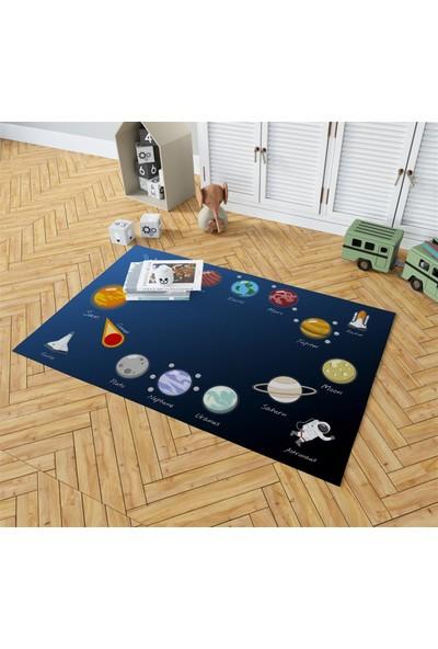 Evpanya Uzay Desenli Erkek Çocuk Odası Halısı 120 x 175 cm