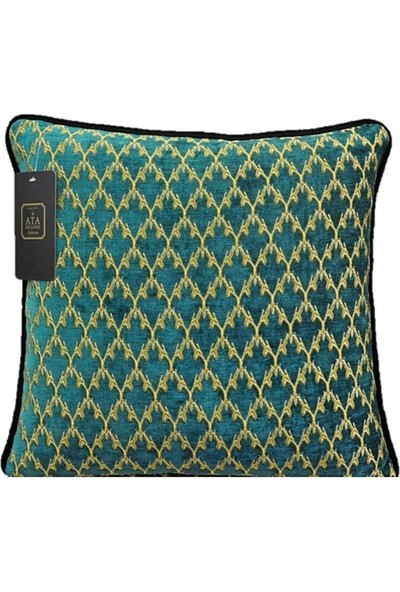 Ata Exclusive Fabrics Versace Serisi Baklava Desenli Dekoratif Kırlent