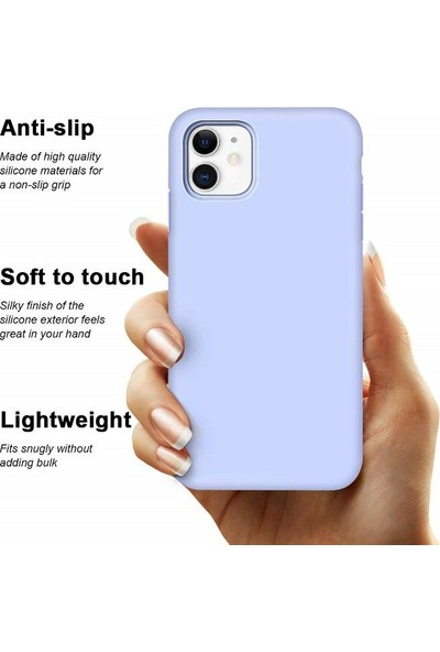 Engo Apple iPhone 11 Liquid Silikon Lansman Kılıf - Lila
