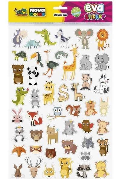 Nova Color Karışık Şekilli Eva Sticker 20 x 30 cm