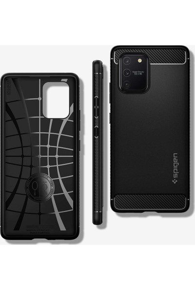Spigen Samsung Galaxy S10 Lite Kılıf Rugged Armor Matte Black - ACS00676