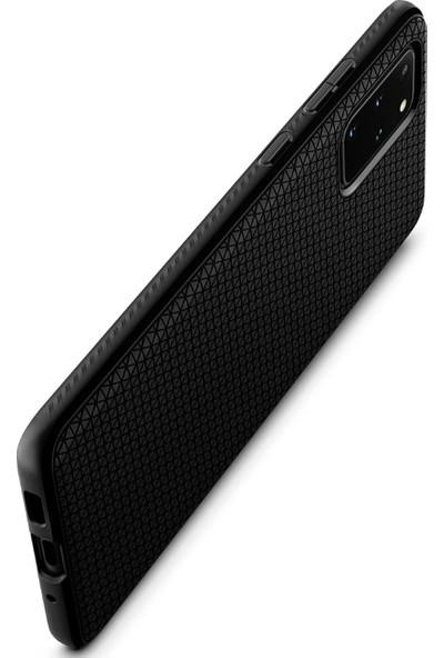 Spigen Samsung Galaxy S20 Plus Kılıf Liquid Air Matte Black - ACS00754