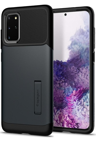 Spigen Samsung Galaxy S20 Plus Kılıf Slim Armor Metal Slate - ACS00648