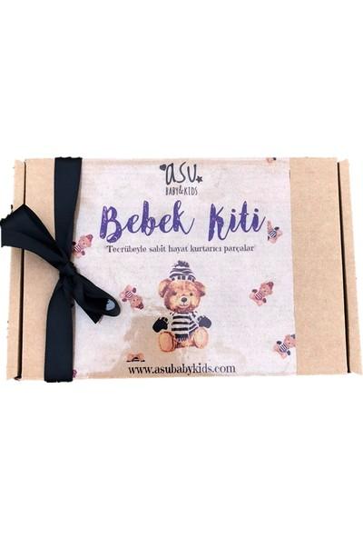 Asu Bebe Vintage Ayı Lacivert 3'lü Bebek Seti