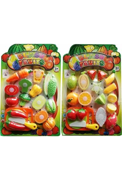 Atlas Oyuncak Oyuncak Sebze Meyve Kesme Seti - Kesme Tahtalı 2 Paket 36 Parça