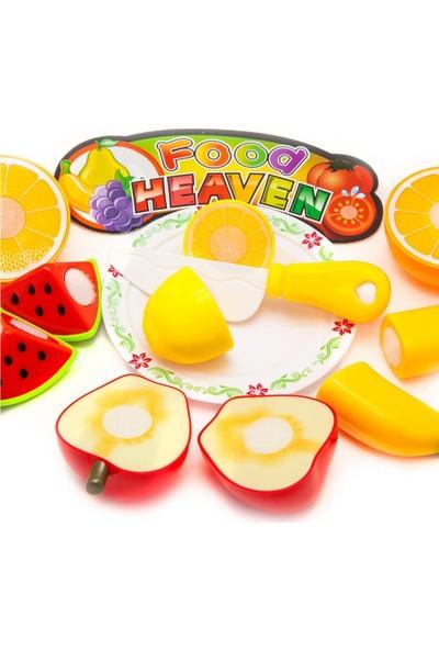 Atlas Oyuncak Oyuncak Sebze Meyve Kesme Seti - Kesme Tahtalı 2 Paket 24 Parça