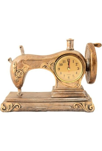 Pologift Polyester Dekoratif Dikiş Makinesi Şeklinde Saat