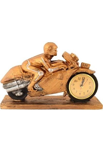 Pologift Polyester Motor Yarışçısı Görünümlü Saat