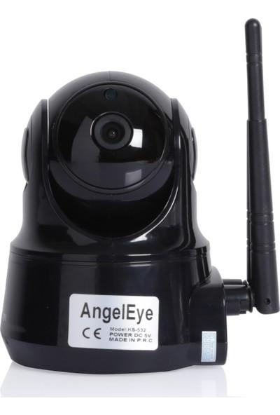 Angel Eye KS-532 1080P Kablosuz Ip Bebek Bakıcı Kamerası Siyah