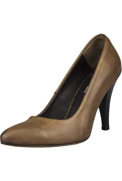 Gön Topuklu Ayakkabı Deri Kadın Kahverengi 36