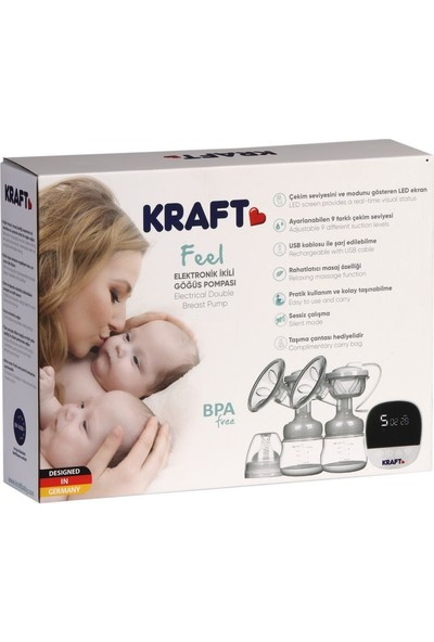 Kraft Feel Elektronik İkili Göğüs Pompası
