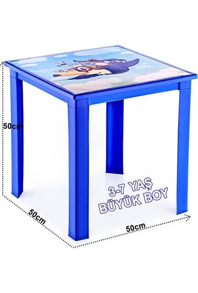 Banadabul Fiore Çocuk Masa Sandalye Takımı Mavi Karga