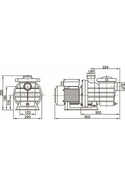 Smp Havuz Pompası 0,75 Hp 220 Volt