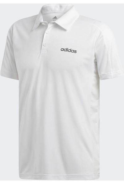 adidas Design 2 Move Climacool Erkek Beyaz Polo Tişört (Dt3049)