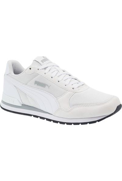 Puma Runner V2 Mesh Beyaz Spor Ayakkabı (366811-08)
