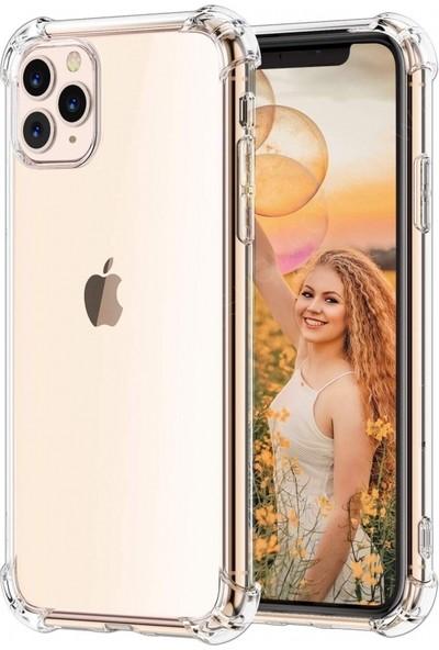Guesche Apple iPhone 11 Pro Şeffaf Airbag Antishock Silikon Kılıf