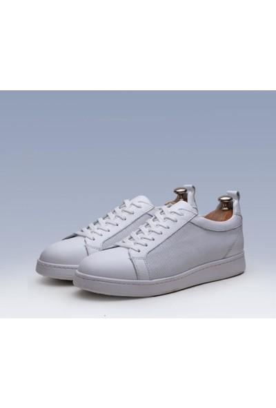 Tetri Beyaz Deri Spor Ayakkabı 39
