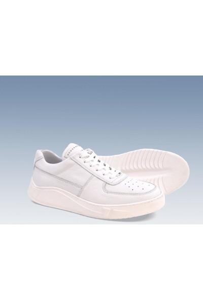 Tetri Beyaz Deri Spor Ayakkabı 41