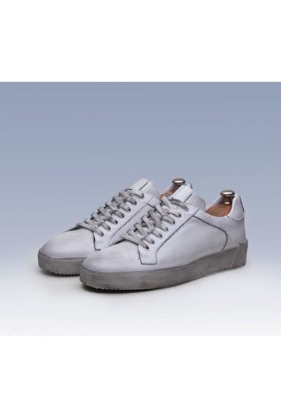 Tetri Beyaz Deri Kirletme Efekt Ayakkabı 40