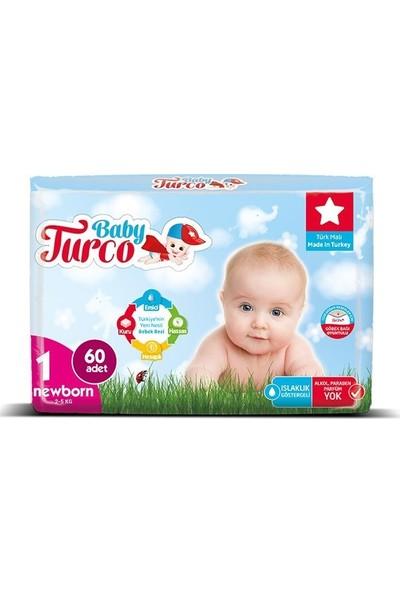 Baby Turco Bebek Bezi 1 Beden Yenidoğan 60' Lı 2 - 5 kg