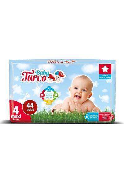 Baby Turco Bebek Bezi 4 Beden Maxi 44' Lü 8 -14 kg