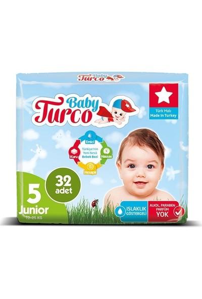 Baby Turco Bebek Bezi 5 Beden Junior 32' Li 12 -25 kg