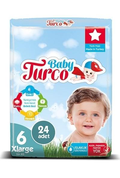 Baby Turco Bebek Bezi 6 Beden x Large 24' Lü 16+Kg