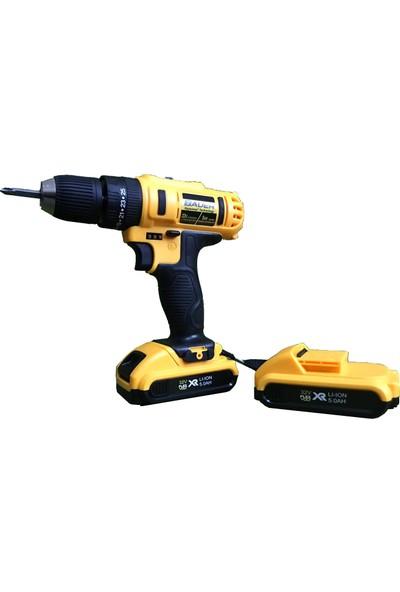 Bauer Power Tools 32 Volt 5.0 Amper Darbeli Çift Akülü 20 Parça Uc Setili Şarjlı Vidalama Matkap