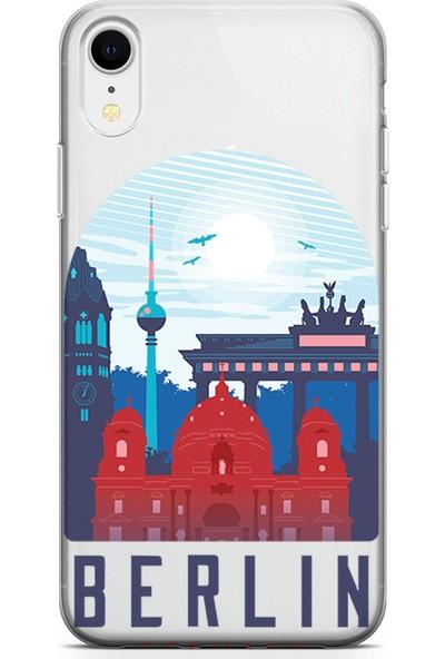 Kılıfland Apple iPhone XR Kılıf Silikon Resimli Kapak Berlin - 46